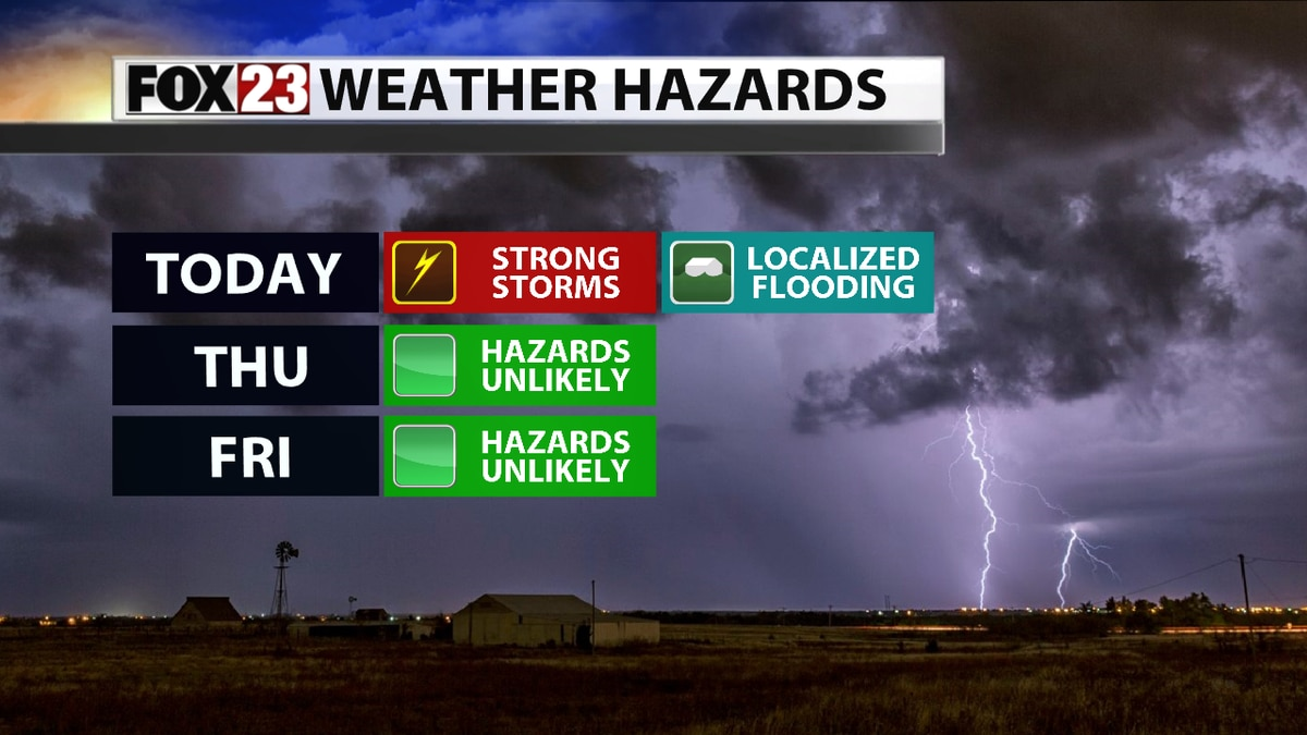 Storm chances increase into Wednesday, severe storms likely