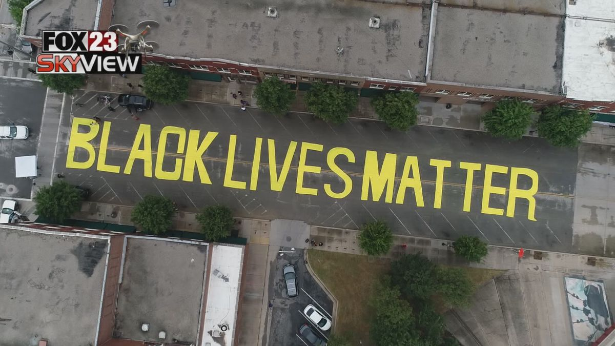 July 29, 2020 - Tulsa's city council plans to debate the future of the 'Black Lives Matter' mural on Greenwood.