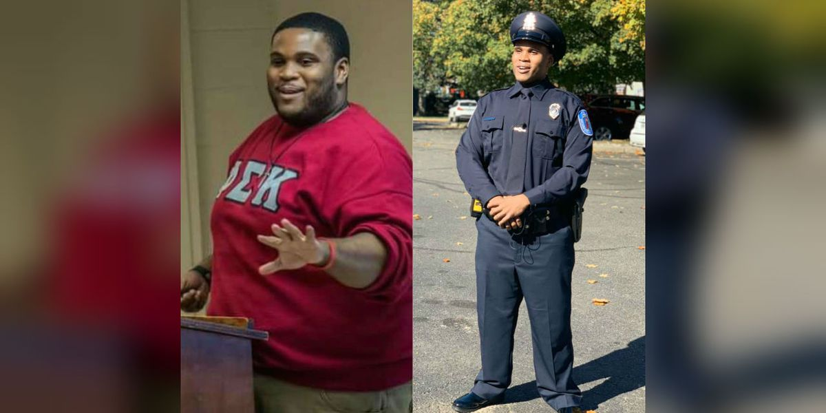 Man loses 176 pounds, achieves dream of becoming police officer