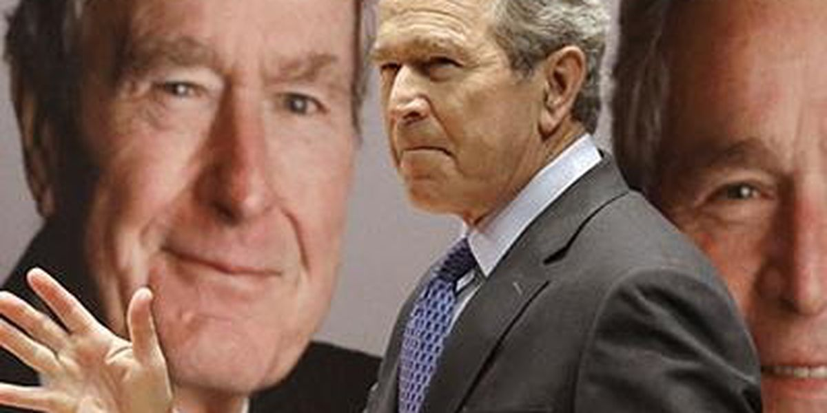 George W. Bush delivers pizza, calls for 'both sides' to end government shutdown