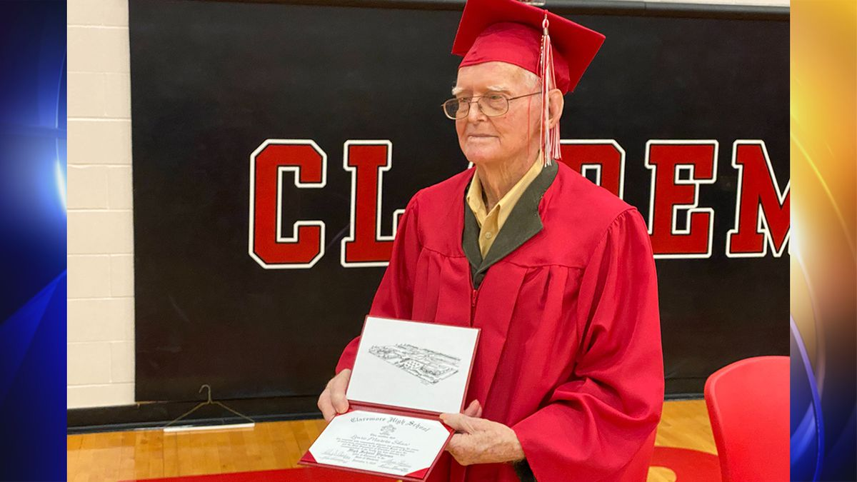 WWII veteran who left school early for service to get Claremore High School diploma