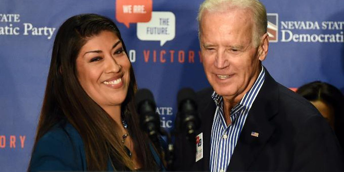 Joe Biden responds after being accused of kissing former Nevada lawmaker Lucy Flores