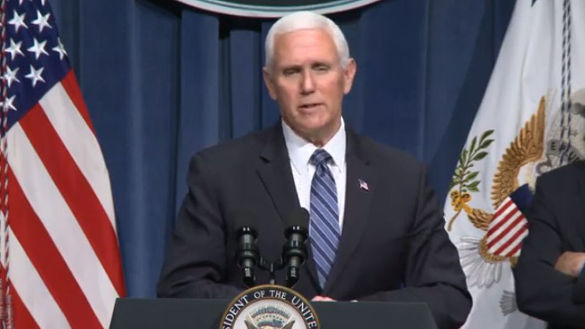 """Pence on virus: """"About two weeks ago, something changed"""""""