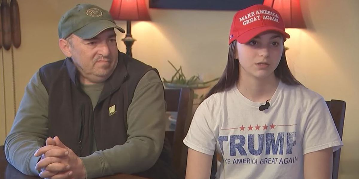 Teen asked to cover up after wearing MAGA gear for school's American pride day