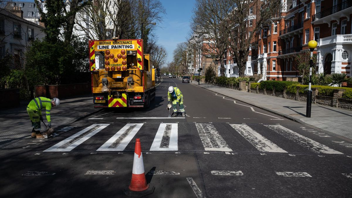 Abbey Road crossing repainted because no one is out due to coronavirus