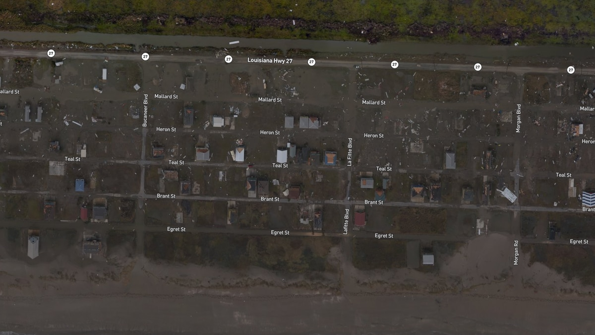 Before and after: Damage from Hurricane Laura seen from above