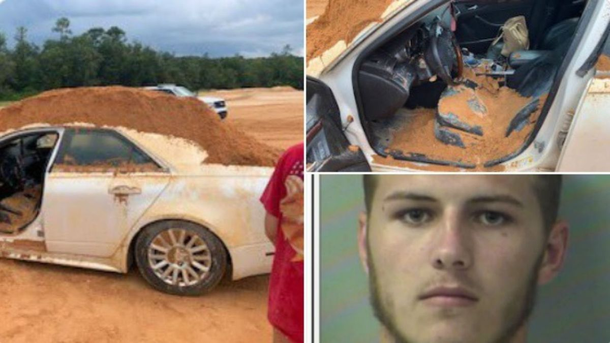 Florida man uses front end loader to dump dirt on girlfriend's car, sheriff says