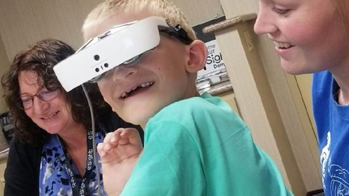 Local family raises money so 7-year-old boy can see for the first time